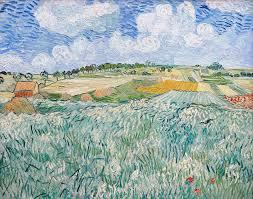farm painting plain near auvers 1890 by vincent van gogh
