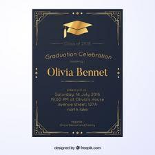 graduation announcements free downloads graduation invitation vectors photos and psd files free download