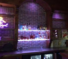 basement bar lighting. back bar shelves w led lighting great for home bars basement