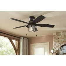 hunter outdoor ceiling fans. Shop Hunter Allegheny 52-in New Bronze Outdoor Flush Mount Ceiling Fan With Light Kit Fans
