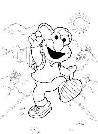 Sesame Street Coloring Pages Birthday Page Printable Fun C