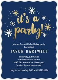 40th Birthday Invitations Navy And Gold Confetti 40th Birthday Party Invitation