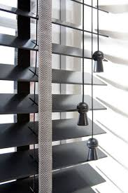 black wooden blinds. Blinds Installations Black Wooden