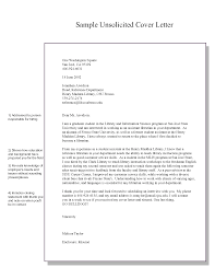 Unsolicited Resume Cover Letter Unsolicited Resume Cover Letter Images Cover Letter Sample 8
