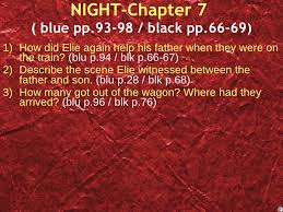 night study questions chapter by chapter night chapter