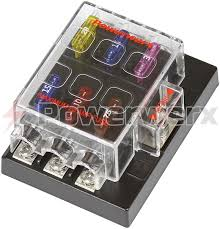 blue sea 5025 6 circuit blade fuse block cover and negative picture of powerwerx 6 circuit atc ato blade fuse block cover