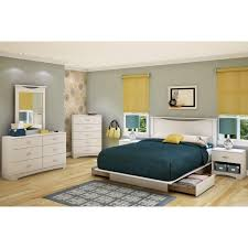 white full storage bed. Brown Wooden Full Size Bed Frame With Storage White