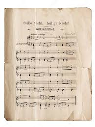 Old music sheet of Silent Night, popular Christmas carol — Stock ...