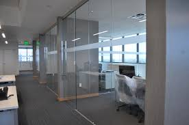 contemporary glass office. Frameless Glass Office Fronts With Walls Protruding Contemporary F
