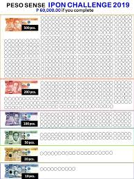 Ipon Challenge Chart Peso Economics Ipon Challenge 2019 5 Must Try To Achieve