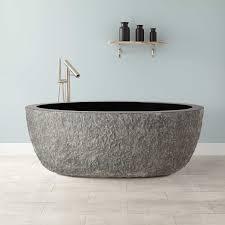 Blue Bathtub 60 augustus chiseled stone tub blue gray granite bathroom 1977 by guidejewelry.us