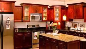 Kitchen Pretty Dark Cherry Glamorous Kitchen Design Cherry Cabinets