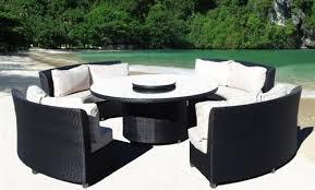nice round patio dining sets high quality cream outdoor patio round wicker sofa dining set house