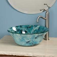 Decorative Bathroom Sinks Decorative Round Glass Bathroom Sink Design Orchidlagooncom