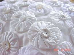 564 best Yo-Yos images on Pinterest | Yo yo quilt, Embroidery and ... & Shabby Cottage Chic Quilt YoYo White Vintage by KeepsakeKorner, $39.95 Adamdwight.com