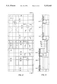 exterior curtain wall floor intersection. patent drawing exterior curtain wall floor intersection
