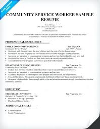 human services resume samples community service worker resume sample entry  level human services resume samples