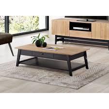 Table basse bois et noir | Lepetitsiam