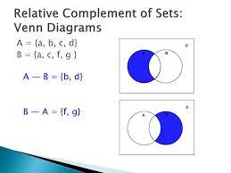 A Union B Complement Venn Diagram Ppt Set Operations Powerpoint Presentation Id 1592516
