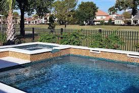 pool deck tile ideas waterline