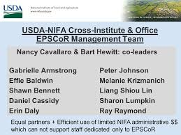 USDA National Institute of Food and Agriculture (NIFA) EPSCoR Overview -  ppt download
