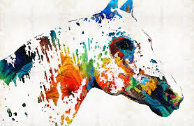 animal painting colorful horse art wild paint by sharon mings by sharon mings
