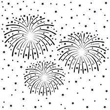 花火新年背景簡単すべて編集可能のイラスト素材ベクタ Image 67963323