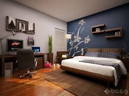 bedroom paint designs. Plain Bedroom I Can Do Without The Flowers But Like One Dark Wall With White  Linens Blueaccentwallbedroomviahomedesigners_us Inside Bedroom Paint Designs T
