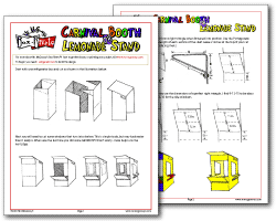McGroovy's cardboard blueprints for lemonade stand or carnival booth