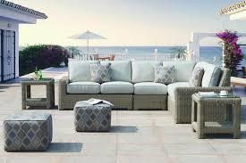 outdoor wicker patio furniture. Erwin \u0026 Sons Napa Outdoor Wicker Sectional Sofa Patio Furniture L