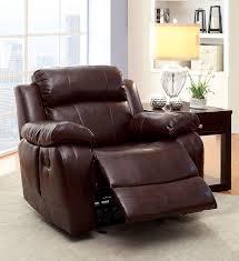 com furniture of america derick glider recliner kitchen dining