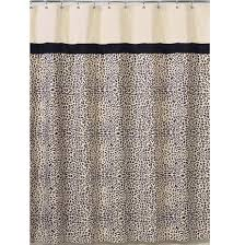 black and brown shower curtain leopard print fabric bath shower curtain cream black black brown gray