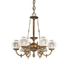 vintage six light chandelier