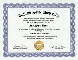 Bullshit Bs Degree Custom Gag Diploma Doctorate Certificate Funny Customized Joke Gift Novelty Item
