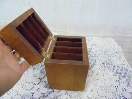 divided box vintage palm wood divided box tags cigarette 4 divisions small trinket hinged divided box