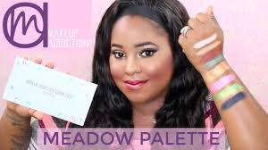 meadow palette makeup addiction cosmetics tutorial swatches you