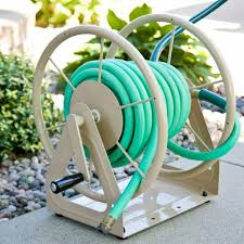 wall mount decorative garden hose rack outdoor patio hanging holder box storage for