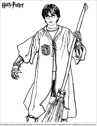 Small Picture Coloring Page Harry potter coloring pages 24 Birthdays