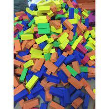 Gạch mút xốp - đồ dùng cho mầm non [ĐƯỢC KIỂM HÀNG] 41358800 - 41358800 |  Lắp ghép, Xếp hình