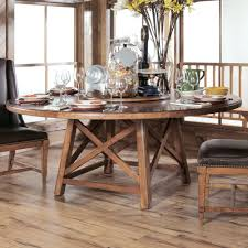 rustic round dining table sets