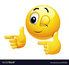 Winking Smiley Gesturing With His Hand Royalty Free Vector