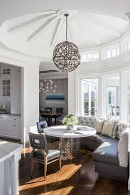 san francisco breakfast nook round table with contemporary decorative objects dining room transitional and palo alto