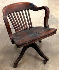 vintage wooden office chair. Chair Co Antique Solid Wood Office For Plans 3 Vintage Wooden A