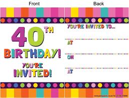 40th Birthday Invitations Free Templates Free 40th Birthday Invitations Clipart Png And Cliparts For