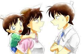 Ran & Shinichi w/ a new Kudo (1500×1000)