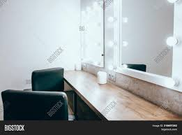 Black Mirror With Lights Room Makeup Mirror Image Photo Free Trial Bigstock