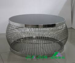 post modern stainless steel round coffee table neoclassical glass round stainless steel coffee table