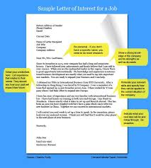 Types Of Interest Letters Career Job Search And Resume Cover Letters