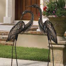 regal large 45 in bronze heron garden