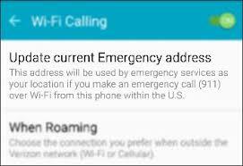 Address By Phone Wi Fi Calling Android Change Emergency Address Verizon
